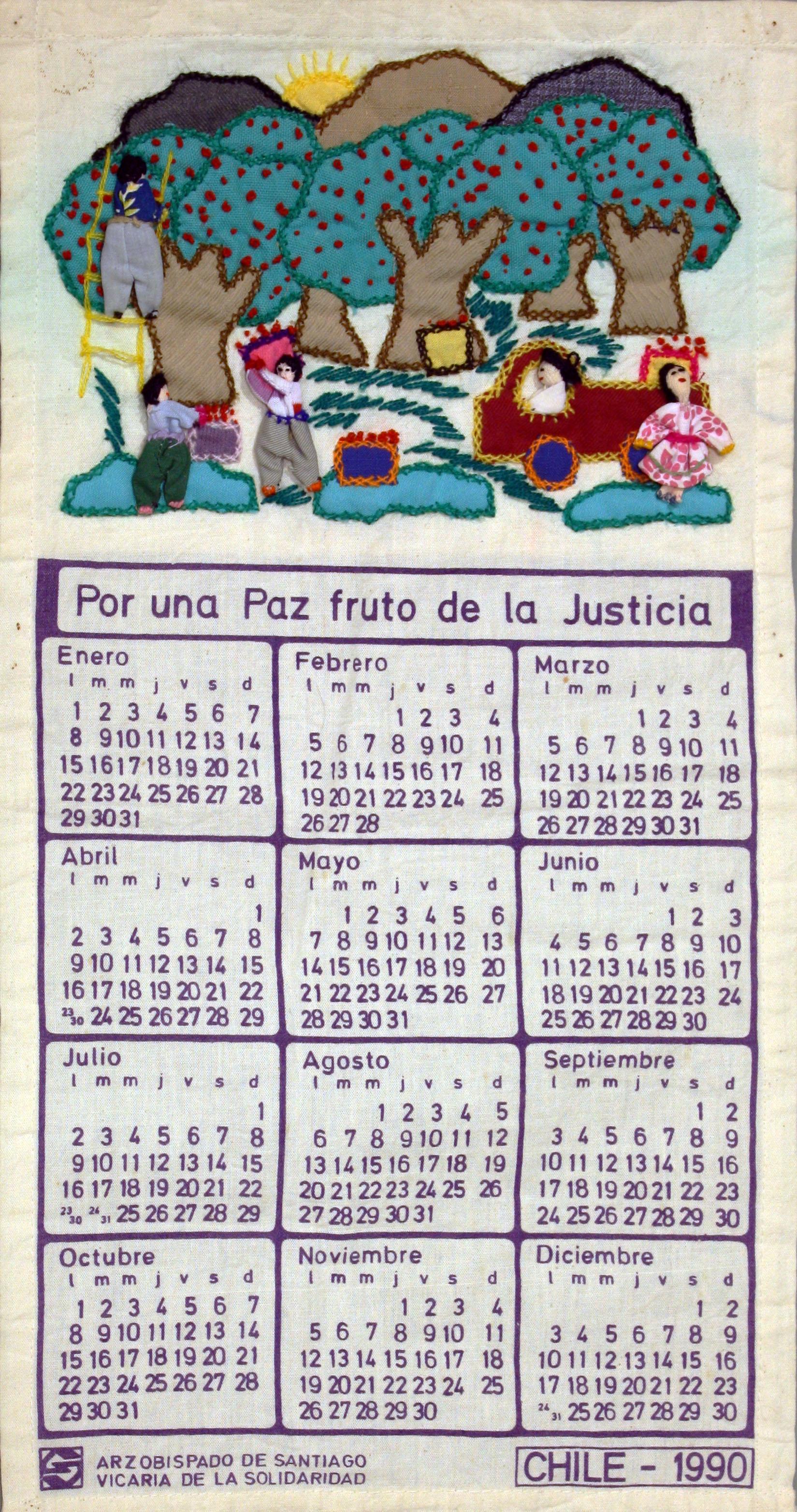 1990 Calendario.Item 000007 Calendario 1990 Archivo De Fondos Y Colecciones