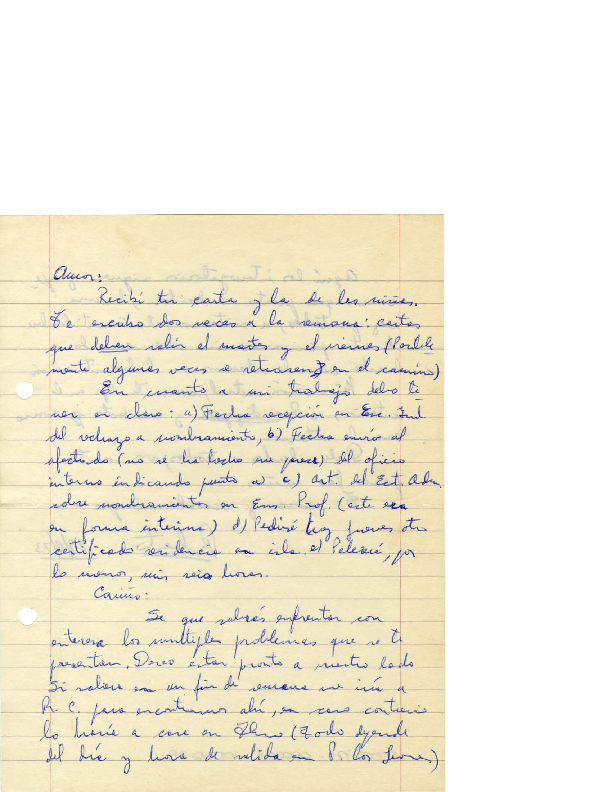 Item 000038 - Recib� tu carta y la de las ni�as... - Archivo de ...